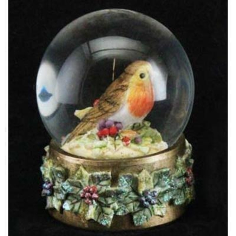 Robin Snow Globe by Gisela Graham: Booker Gifts