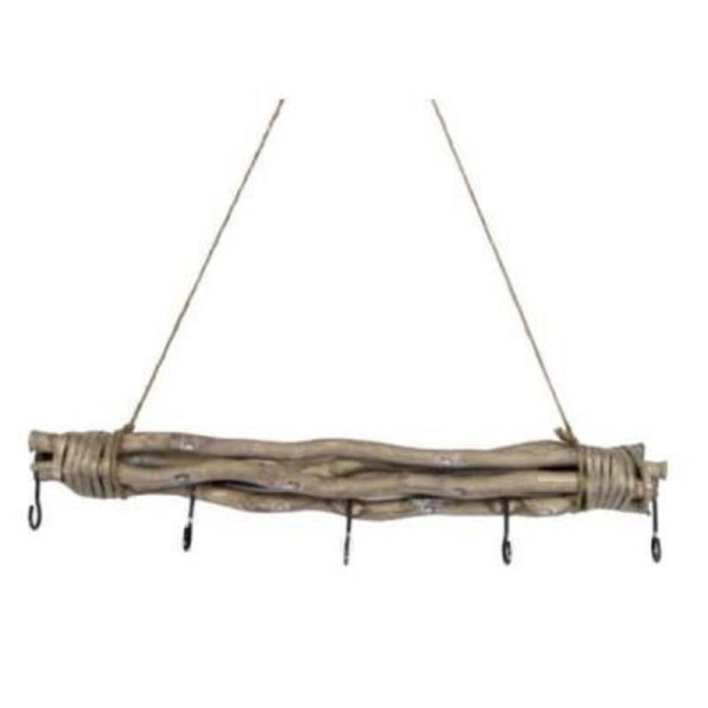 Rustic Twigs with Hooks Hanging Frame by Gisela Graham: Booker Gifts