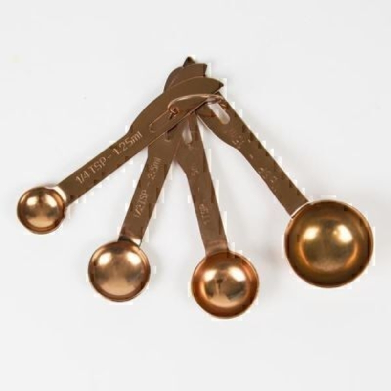 Set of Copper Measuring Spoons by Sass and Belle: Booker Gifts