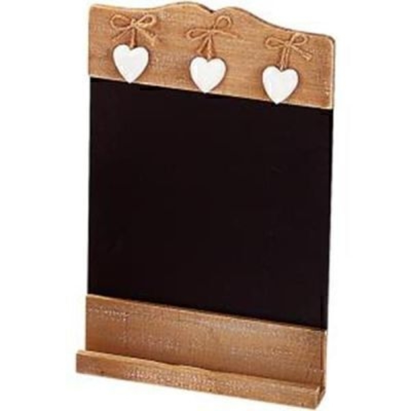 Shabby Chic Blackboard 3 Hearts by Transomnia: Booker Gifts