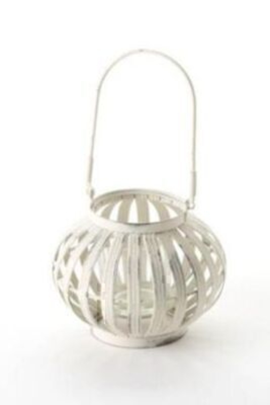 Shabby Chic Round Cream T-light Holder: Booker Gifts