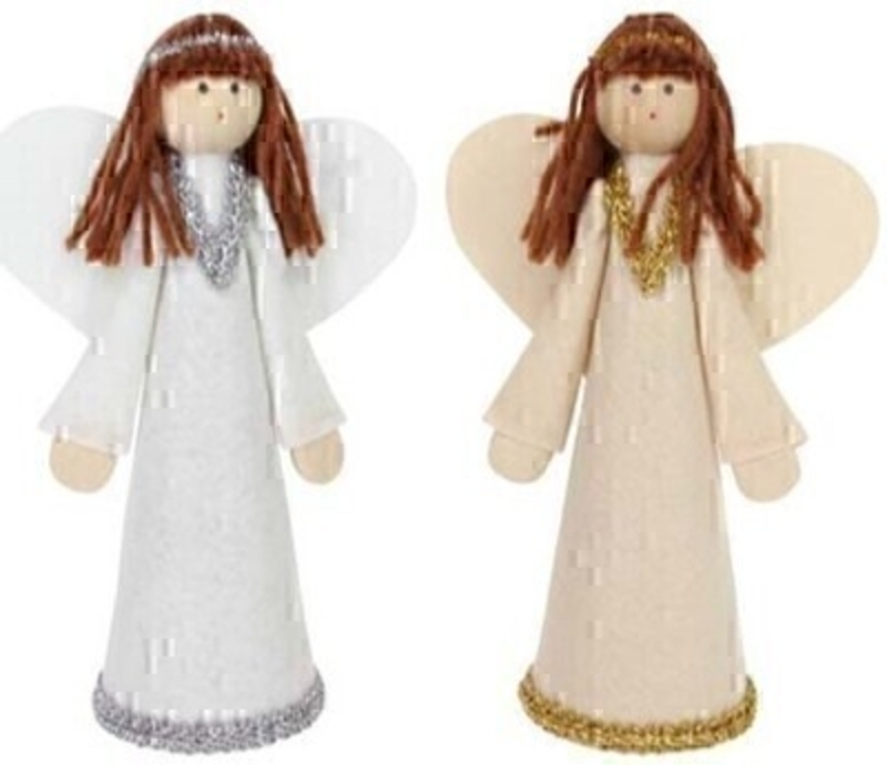 Silver or Gold Christmas Tree Angel By Gisela Graham - Choice of 2: Booker Gifts
