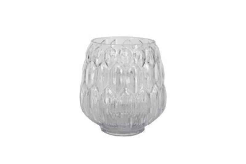 Small Artichoke Clear Glass Vase by Gisela Graham: Booker Gifts