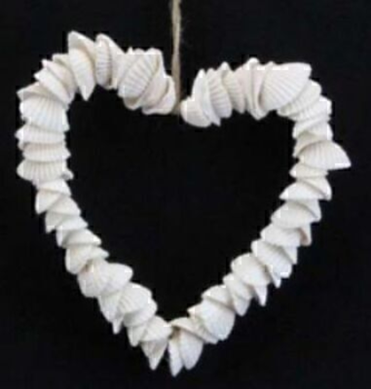 Small Shell Heart Decorations By Gisela Graham: Booker Gifts