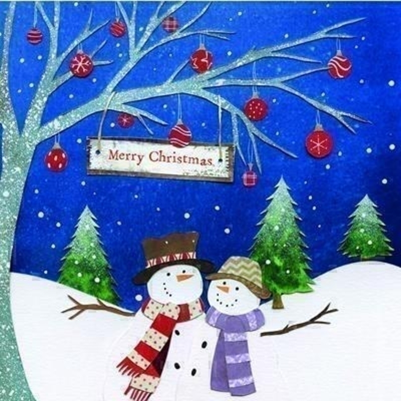 Snow Couple Charity Christmas Cards for  GOSH: Booker Gifts
