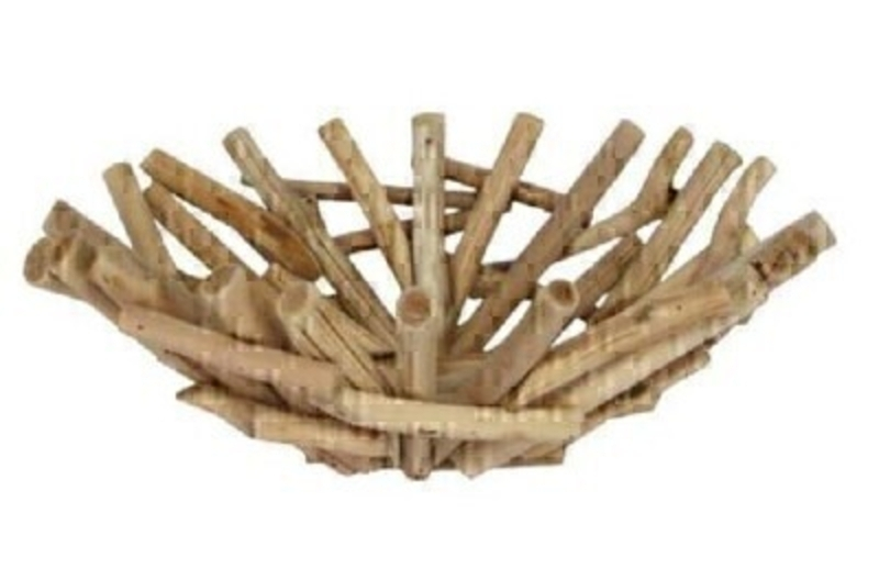 Stacked Driftwood Decorative Basket - by Gisela Graham: Booker Gifts