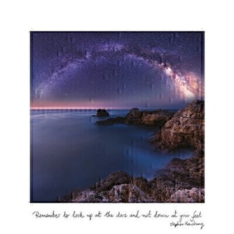 Starry Sky With Quote Blank Greetings Card by Paper Rose: Booker Gifts