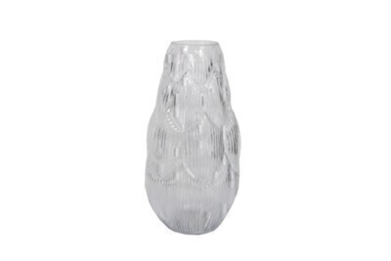 Tall Artichoke Clear Glass Vase by Gisela Graham: Booker Gifts