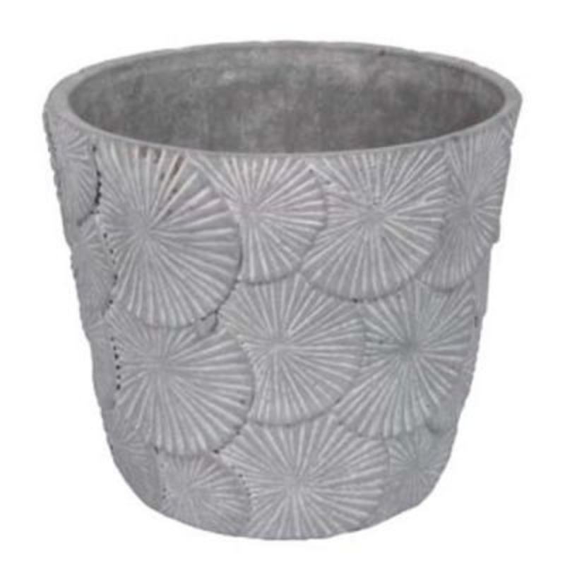 Textured Concrete Pot Cover - Large - by Gisela Graham: Booker Gifts