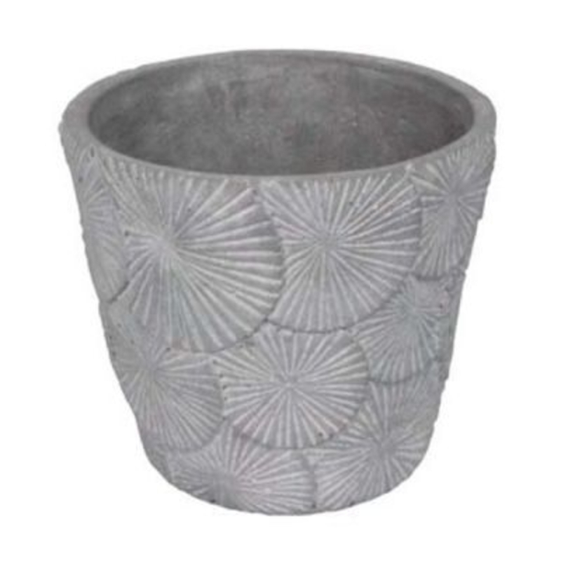 Textured Concrete Pot Cover - Small - by Gisela Graham: Booker Gifts