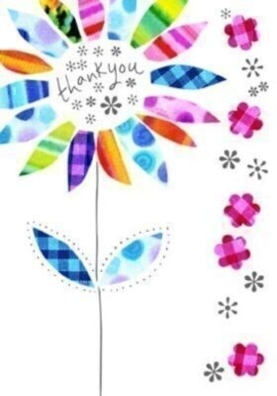 Thank You Card - Flower - by Paper Rose: Booker Gifts