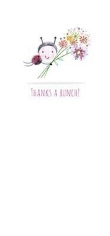 Thanks A Bunch Blank Greetings Card With Envelope: Booker Gifts