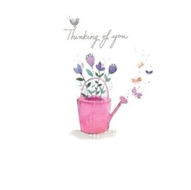 Thinking of You Watering Can Card by Paper Rose: Booker Gifts