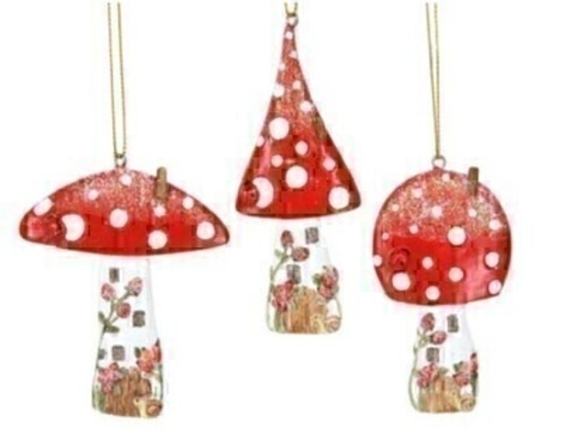 Toadstool House Christmas Decoration By Gisela Graham - Choice of 3: Booker Gifts