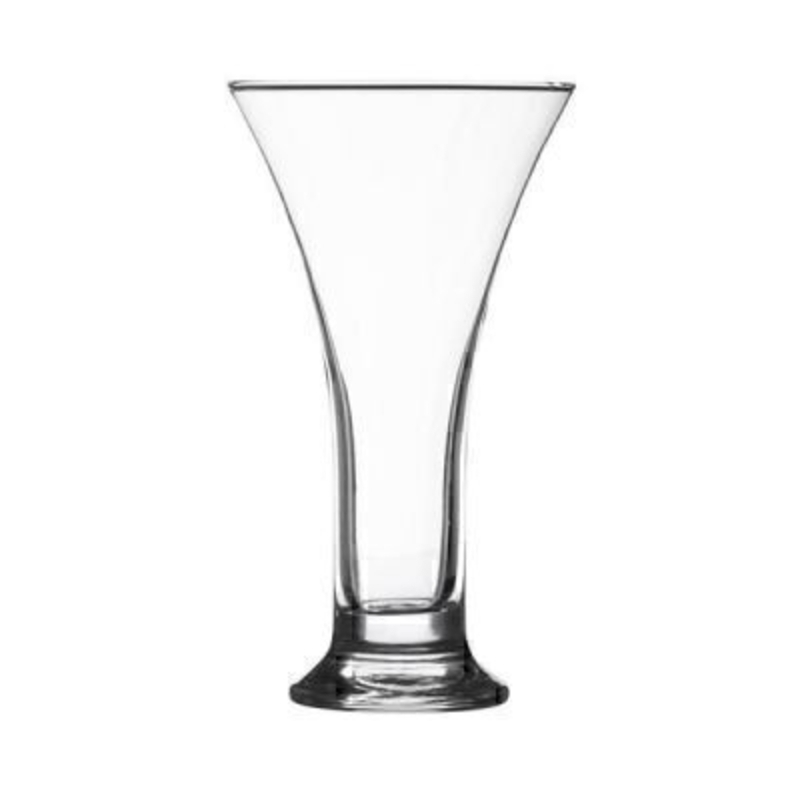 Made from clear glass - this trumpet shaped vase will compliment any interior décor. Ideal to show off your flowers - or as a decorative ornament in your home. Hand wash only. Size 28x16cm