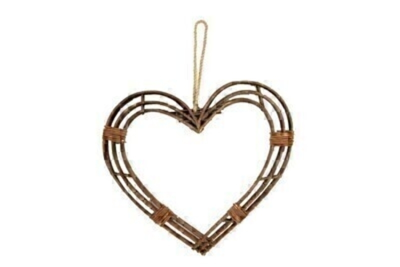 Twig Frame Heart Hanging Wreath Ex Large By Gisela Graham: Booker Gifts