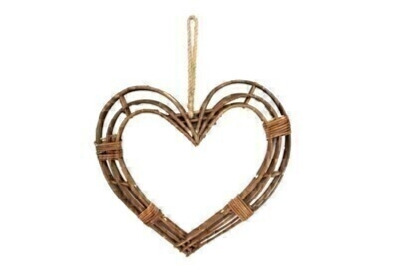 Twig Frame Heart Hanging Wreath Large By Gisela Graham: Booker Gifts