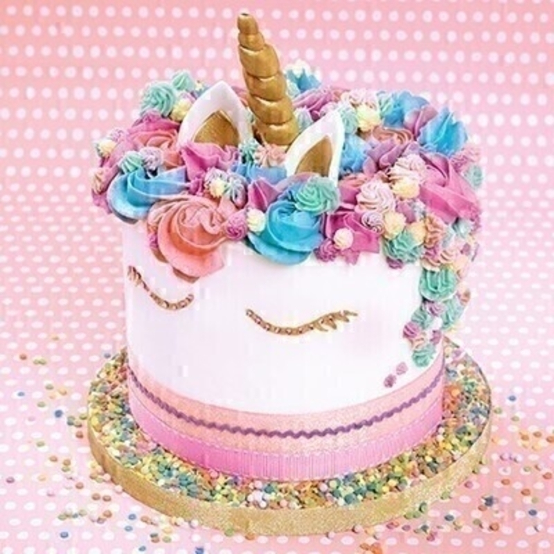 Unicorn Cake Blank Greetings Card by Paper Rose: Booker Gifts