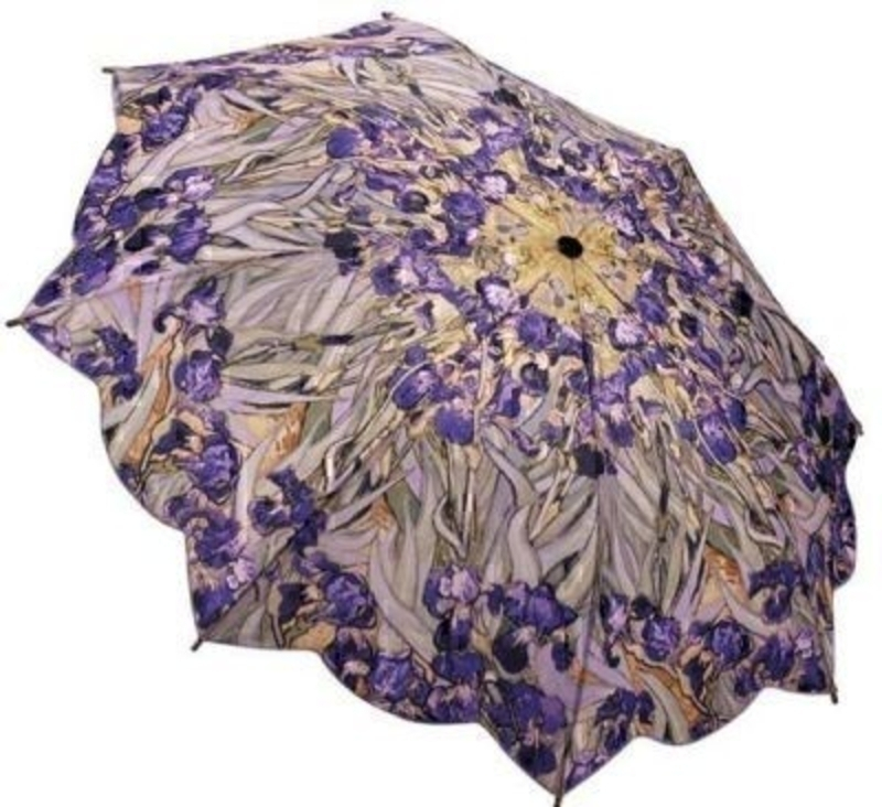 Van Gogh Irises Umbrella By Blooming Brollies - Folding: Booker Gifts