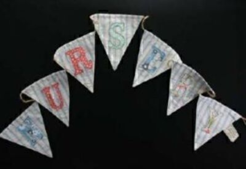 Vintage Nursery Bunting By Gisela Graham: Booker Gifts