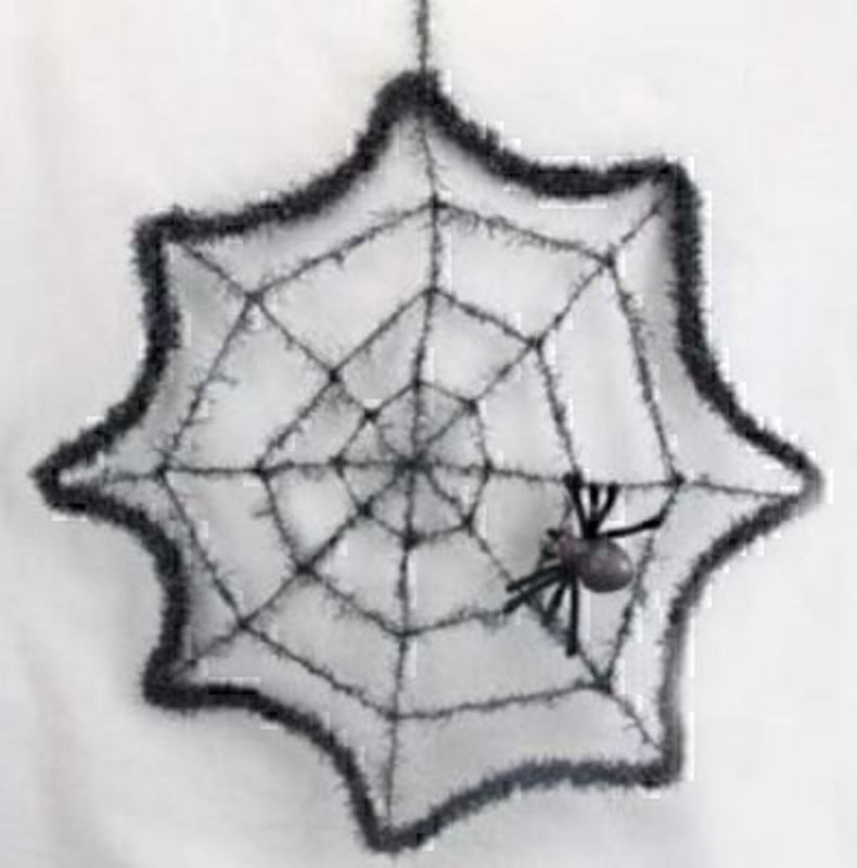 Webb with Spider Halloween Ornament by Gisela Graham: Booker Gifts