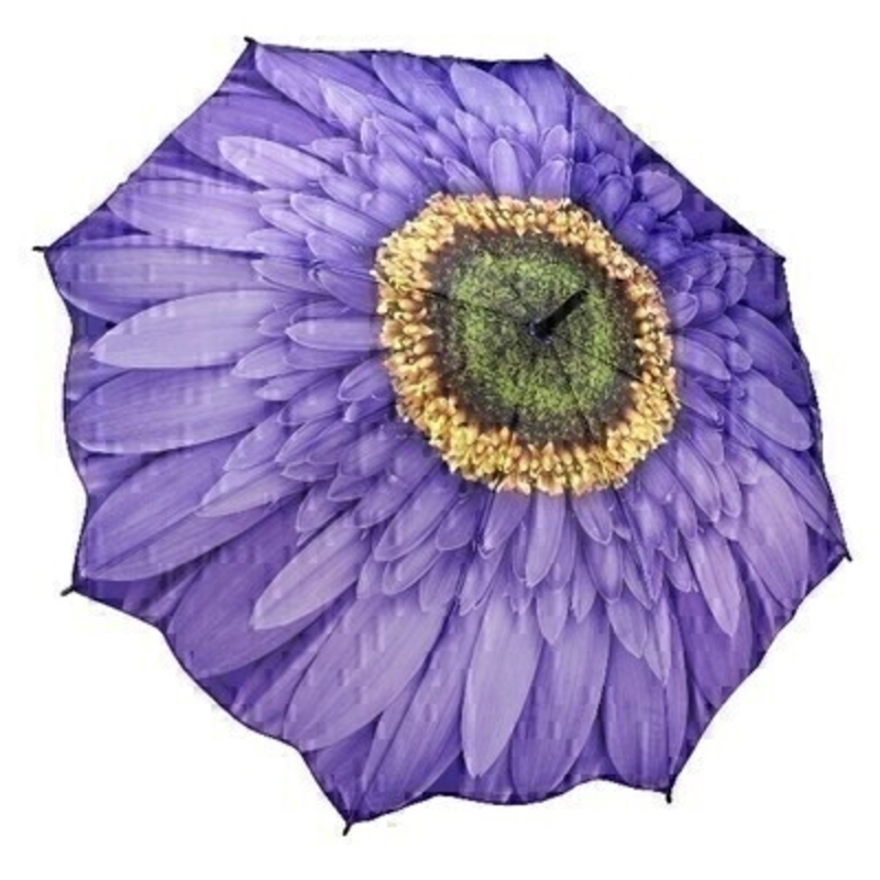 Wisteria Daisy STICK Umbrella by Galleria: Booker Gifts