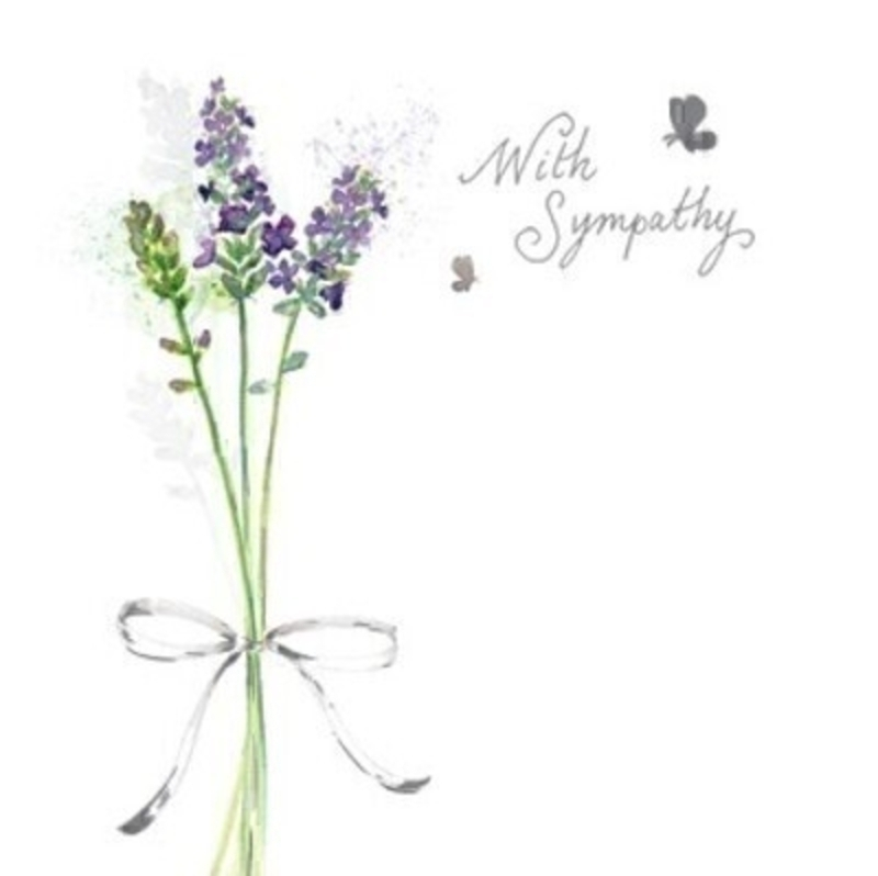 With Sympathy Lavender Greetings Card by Paper Rose: Booker Gifts