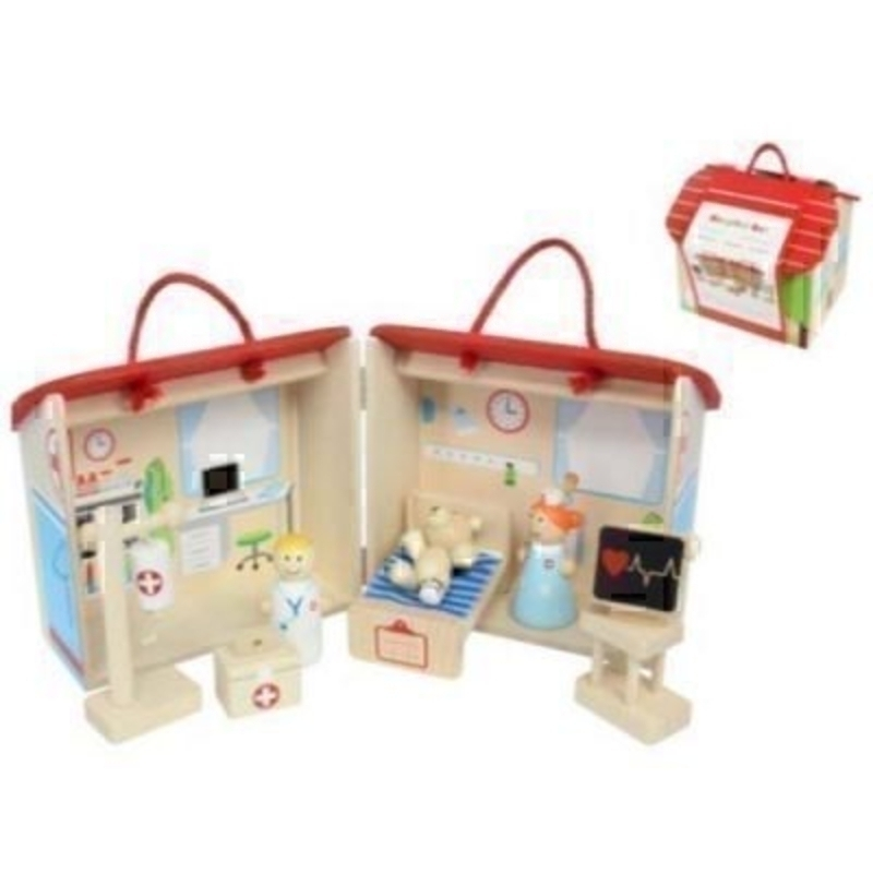 Wood Hospital Play set by Gisela Graham: Booker Gifts
