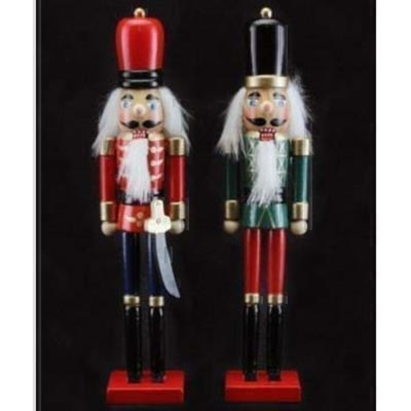 Choice of two Nutcracker figurines. The Nutcracker is a much loved Christmas story and popular ballet bring it into your home with these beautifully designed figurines by Gisela Graham. Price is for 1 figurine and the choice will be random unless specified. Approx size (LxWxD) 22x5x3.5cm