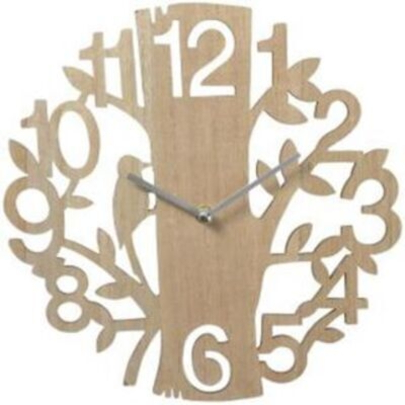 Wooden Tree and Woodpecker Wall Clock by Transomnia: Booker Gifts