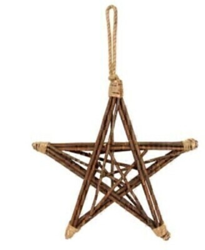Wooden Twig Star Large Christmas Decoration by Gisela Graham: Booker Gifts