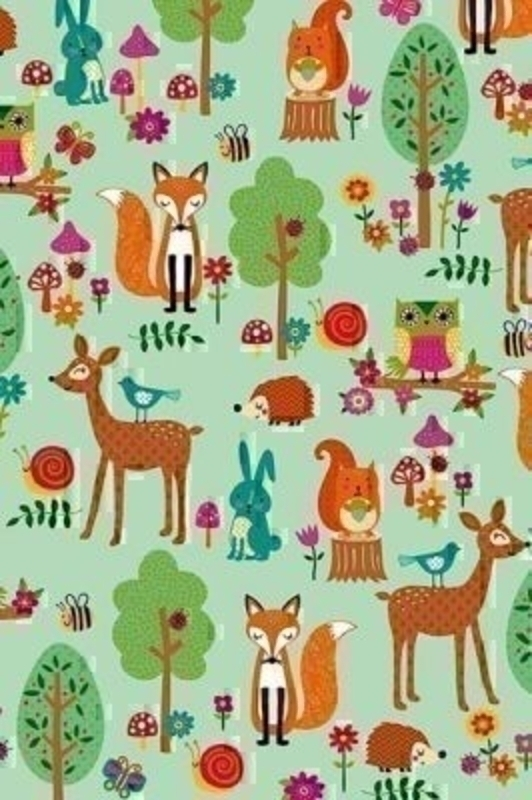 Woodland Animals Childrens Roll Wrap Roman by Stewo. This quality roll wrap by Stewo is printed on 70gsm White Kraft (no Stripes) paper. Size 70cm x 2m.