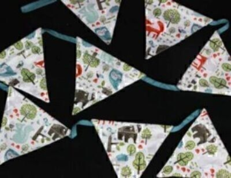 Woodland Friends Canvas Bunting By Gisela Graham: Booker Gifts