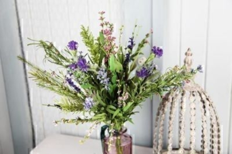 Artificial Thistle and Heathers - Small - by Bloomsberry: Booker Gifts