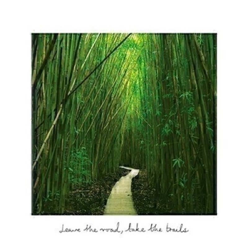 This blank greetings card called Bamboo Forest features a forest scene from Haleakala National Park Maui Hawaii with the inspirational message Leave the road take the trails written on the front.  This card is perfect to send to someone for any occasion and has been left blank inside so you can write your own message. It comes complete with an envelope and is a lovely card from the Art Group.