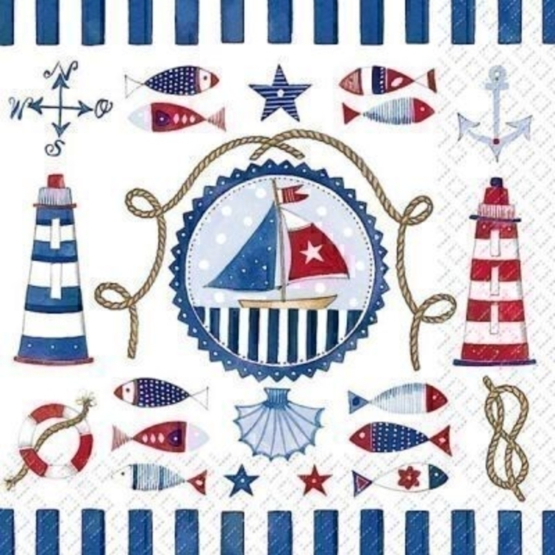 Beach Sea Theme Marella Paper Napkins by Stewo: Booker Gifts
