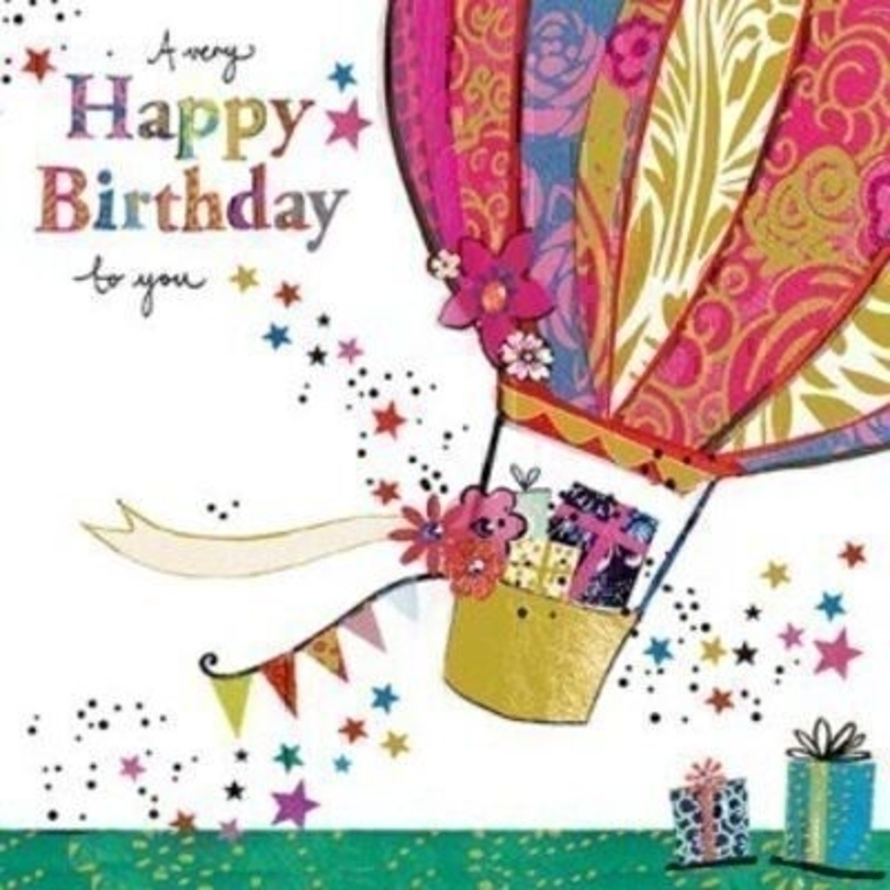 Birthday Card Hot Air Balloon by Paper Rose: Booker Gifts