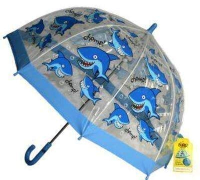 Bugzz Shark Childrens Umbrella Clear Pvc: Booker Gifts