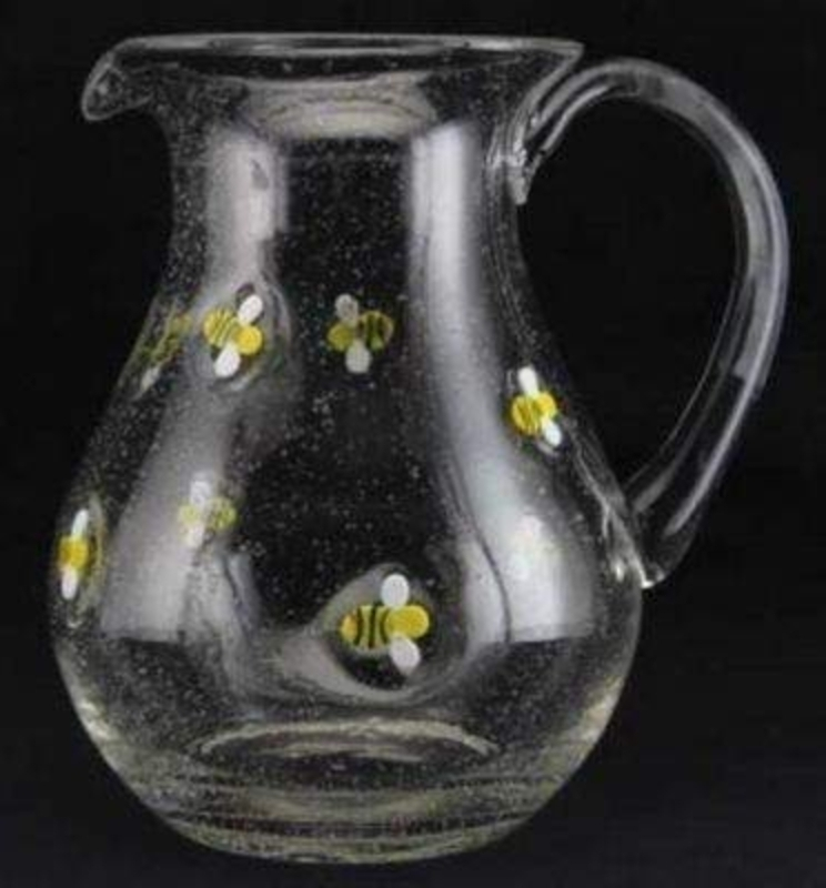 Bumble Bee Glass Jug By Gisela Graham: Booker Gifts