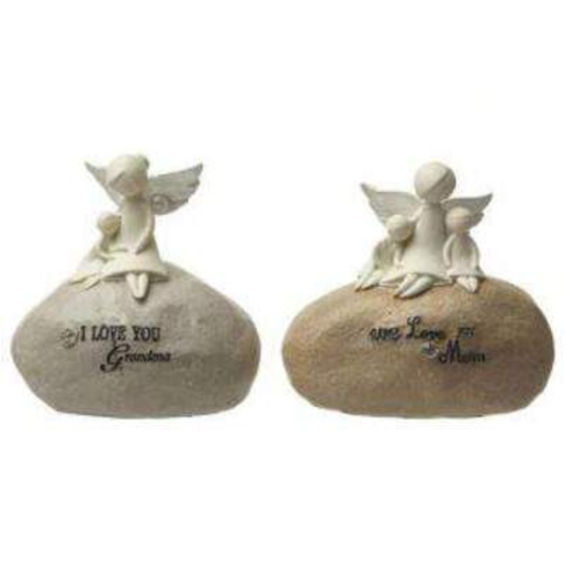 This choice of either I Love You Grandma or We Love you Mum Angels on a Stone by Heaven Sends would be the perfect Mothers Day present for a Mum or a Grandma. A lovely ornament for a Mum or a Grandma with gorgeous Angel figurines on the top and the words