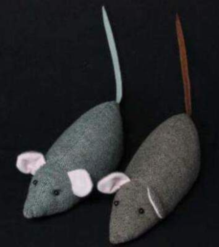 Choice Of 2 Tweed Mouse Doorstop By Gisela Graham: Booker Gifts