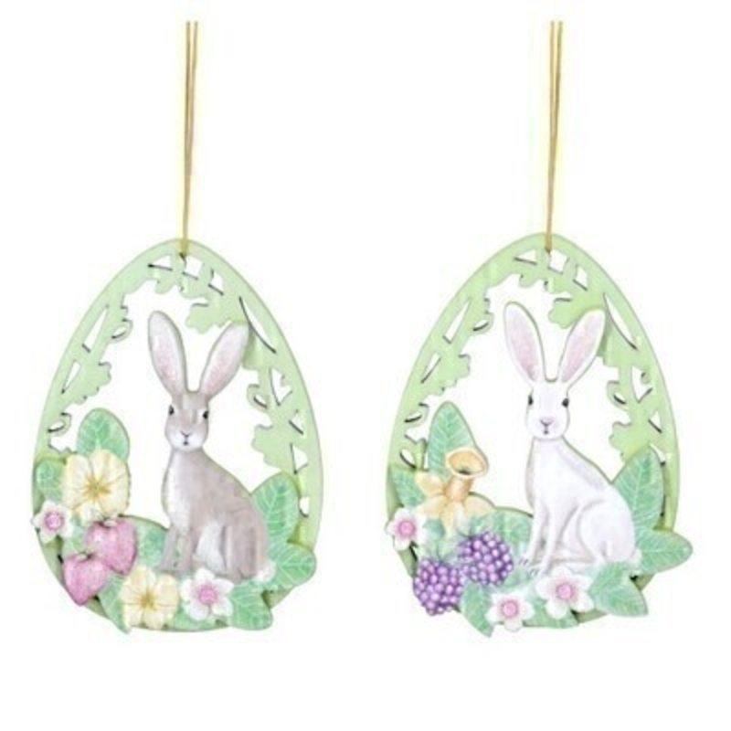 If you are looking for some Easter decorations for your Easter Tree then be sure not to miss these natural wooden fretwood cute Easter Bunny hanging decorations by designer Gisela Graham. Choice of 2 available - brown bunny or white bunny (please specify when ordering which one you would like) Comes complete with string to hang.
