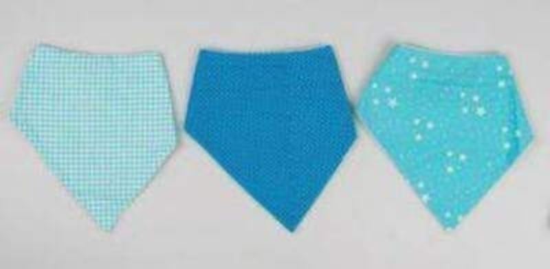 Choice of 3 Assorted Baby Boy Bibs by Sass and Belle: Booker Gifts