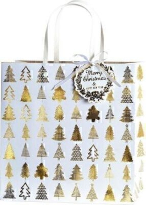 Christmas Gift Bag Belle Gold - Large by Stewo: Booker Gifts