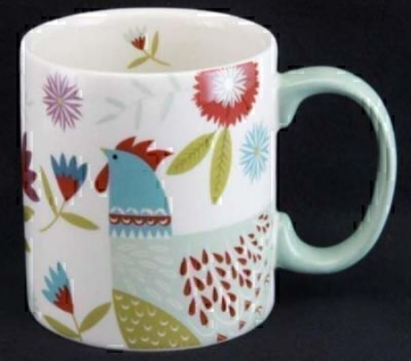 Colourful Hen Mug By Gisela Graham Gifts Liverpool