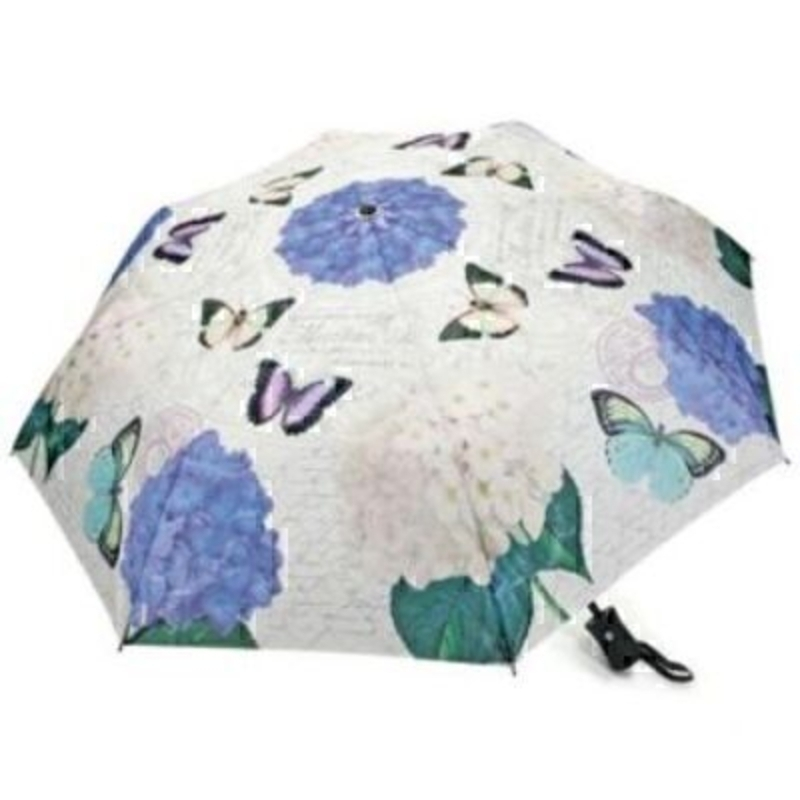 Coynes Butterfly And Hydrangea Folding Umbrella By Bloo: Booker Gifts