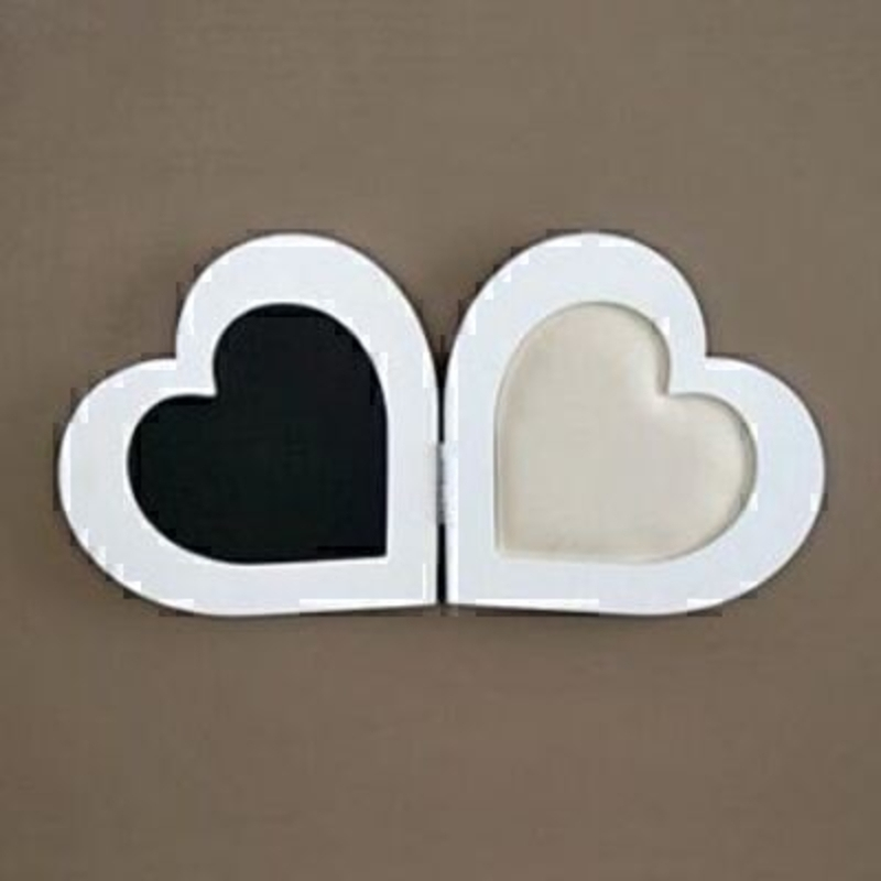 Double Heart Chalk Board And Pin Board: Booker Gifts