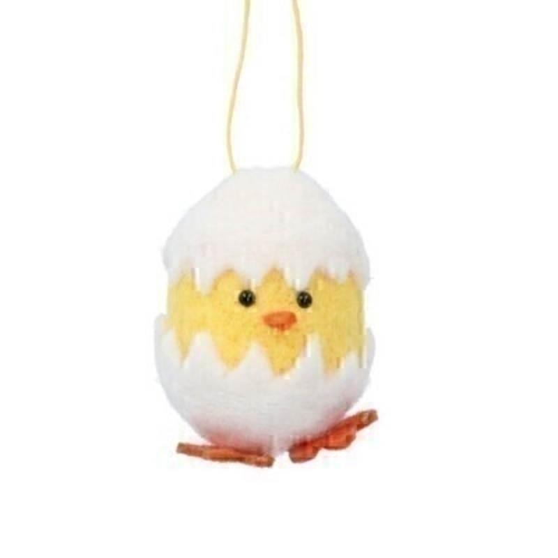If you are looking for some Easter decorations for your Easter Tree then be sure not to miss this cute yellow Easter chick sitting in a cracked white egg hanging decoration by designer Gisela Graham. This white wool mix Easter Chick would be a lovely Easter present for anyone.  Comes complete with string to hang on your Easter Tree.