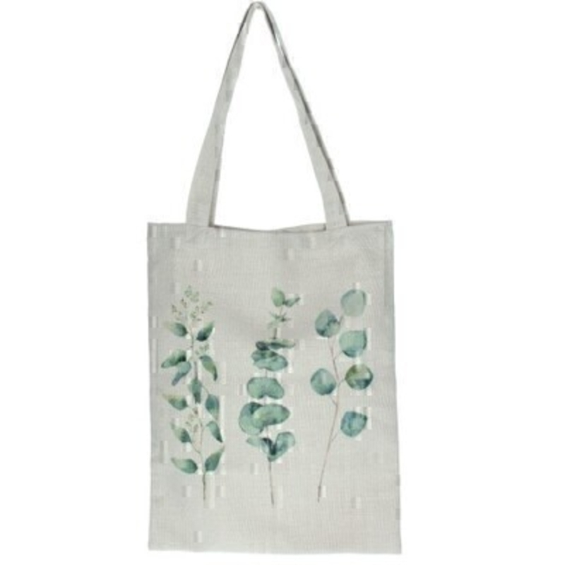Cotton bag with a Eucalyptus pattern by the London based designer Gisela Graham who designs really beautiful gifts for your home and garden. Would make an ideal gift. Matching items available.