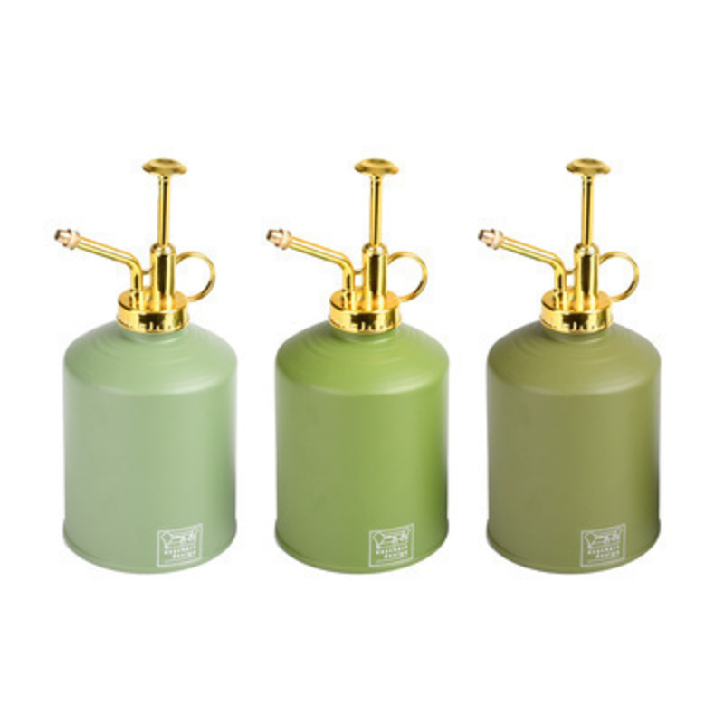 Metal indoor water mister made by Fallen Fruits.  Choice of 3 colours light green / green / dark green (If a particular colour is needed please specifiy when ordering or else we will chose a colour for you) Matching indoor watering cans are available. Size 9.7 x 9.7 x 19.4cm